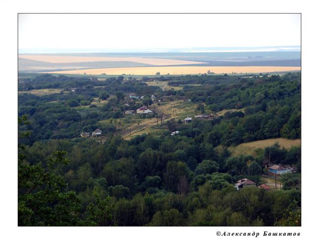 Вид на село Лох с Кудеяровой горы