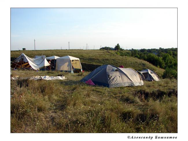 Лагерь археологов СГУ 2007 г.